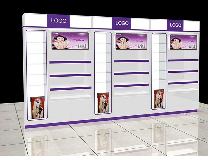 如今化妆品展柜艺术性和科学性要兼并
